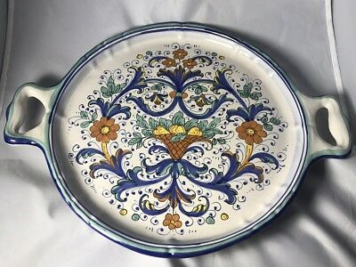 Deruta Italian Hand Painted Platter/ Tray / Plate Made In Italy NEW