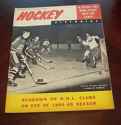 Hockey Pictorial September 1964 Charlie Hodge / Stan Mikita    # 2