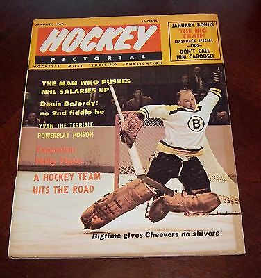Hockey Pictorial January 1967 Gerry Cheevers  # 2
