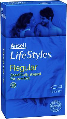 Ansell Lifestyles Regular Easy Fit Condoms 12PK