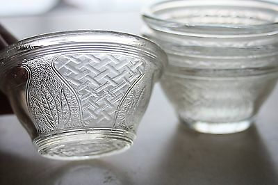 4pc Glassbake 84 Antique 1919 Bowls Glass