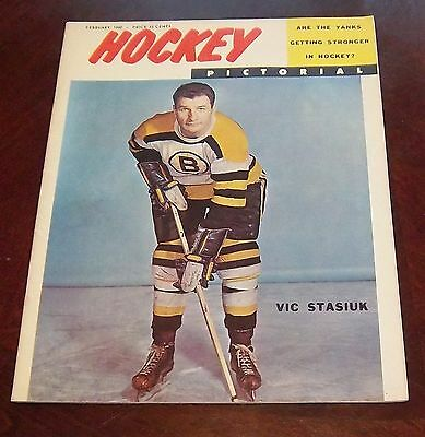 Hockey Pictorial February  1960 Vic Stasiuk  # 2