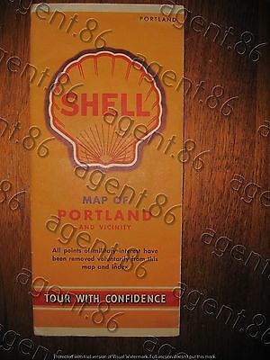 1942 Shell road map of Portland