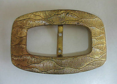 Large Vintage Belt Buckle - Gold in Colour