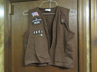 Brownie Scout Vest, medium size    from Atlanta      A215