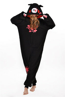 Unisex Adult Animal Pyjamas Cosplay Costume Kigurumi (Black Gloomy Bear L)