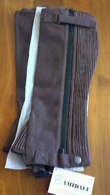 Half Chaps / Gaiters. Brown. Premium quality. Made from Amara. Size small.