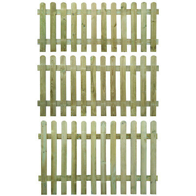New Picket Fence Wood Garden Wooden Fence Panels Lawn Border Fencing 4 Sizes