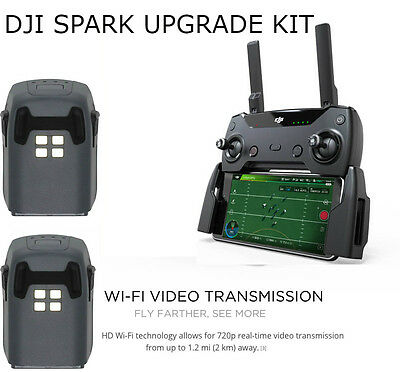 DJI Spark Upgrade Kit, Remote & Battery Pack