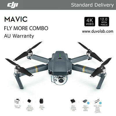 DJI Mavic Pro 4k UHD FPV, Fly More Combo, Quadcopter Drone Kit Remote Control