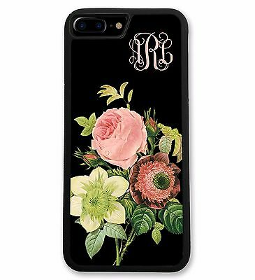 Personalized Vintage Floral Case for iPhone 7, 7 Plus, 6, 6S, 6 Plus, 6S Plus