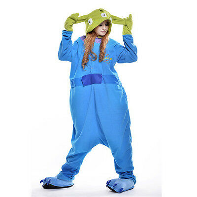 Newcosplay Unisex Adult Animal Pyjamas Cosplay Costume Kigurumi (Aliens M)