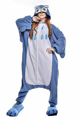 Newcosplay Unisex Adult Animal Pyjamas Cosplay Costume Kigurumi (Owl L)