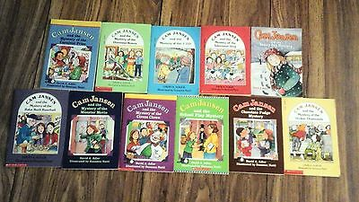 Lot of 11 books: Cam Jansen Mystery of the Carnival Prize, Televison Dog, UFO