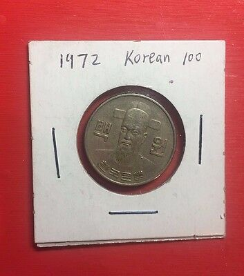 South Korean 100 Won Coins 1972