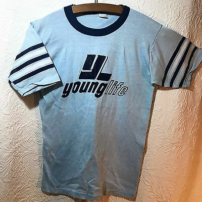 Single Stitch Vintage Tee Shirt Young Life Logo Short Sleeve See measurements