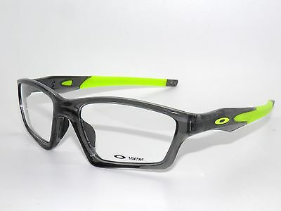 *BLOWOUT SALE*OAKLEY CROSSLINK SWEEP 8031-02 Grey Smoke GREEN+Temples EYEGLASSES