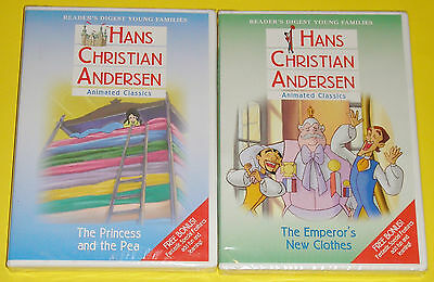 Hans Christian Andersen DVD Lot - Princess and the Pea NEW Emeror's New Clothes