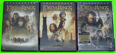 Action DVD Lot - The Lord of the Rings Trilogy (2 Used, 1 New) Full Screen