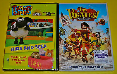 Kid DVD Lot - Timmy Time Hide and Seek (New) The Pirates Band of Misfits (New)
