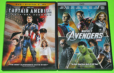 MARVEL Action DVD Lot - Captain America (Used) Avengers (Used)