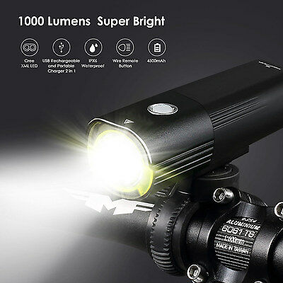 Light Super Bright 1000 Lumens Cree LED Bike Front Headlight