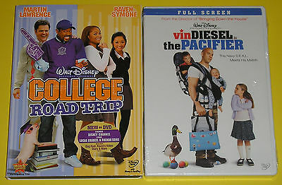 Disney DVD Lot - College Road Trip (Used) The Pacifier FS (New)