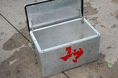 VINTAGE LARGE TEXAS Aluminum Cooler Rare Ice Chest