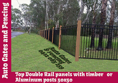 Aluminium Black DoubleTop Pool Fence /Fencing, Security fence, Gate accessories