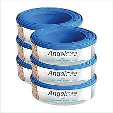 NEW Angelcare MultiLayer Nappy Disposal Cassette x 6 Pack