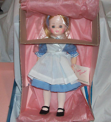 """Madame Alexander 14"""" Alice in Wonderland New in Box with Tags #1552"""