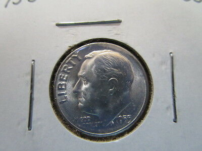 Roosevelt Dime / UNC / 1955-S / item roosters55