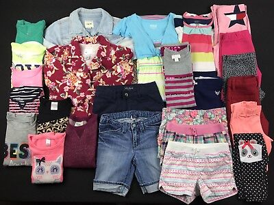 Girls Size 5-6 Back To School Summer Fall Shirts Pants Shorts Jackets Mixed Lot