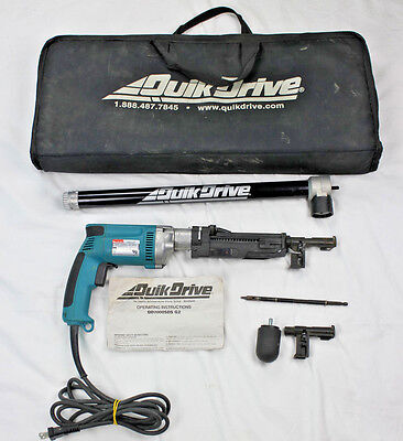 Makita Screw Gun 6823Z w/ Quik Drive Pro with Case Pre-Owned Working Condition