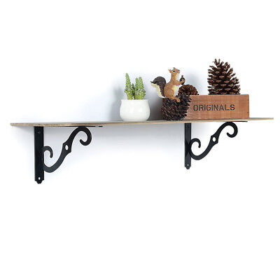 Set of 2 antique style Cast Iron Decorative Scroll Garden RUSTIC Shelf Bracket3