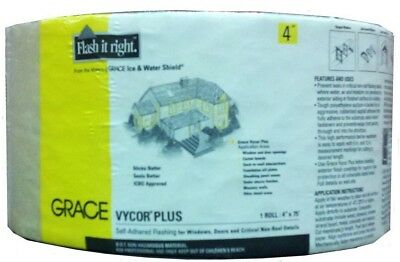 Vycor Plus 4 in x 75 ft Roll Fully-Adhered Window Flashing Smooth Underlayment