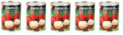5x Aroy-D Lychee In Syrup 565g Fruit Cocktail Dessert Tropical