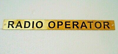 RADIO OPERATOR  – Marine BRASS Door Sign -  Boat/Nautical - 11 x 1 Inches (279)