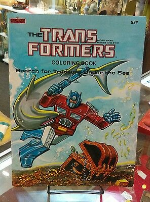Five 1984/85 G1 TRANSFORMERS coloring books