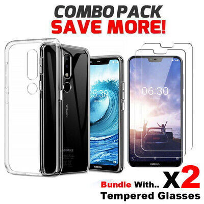 Soft Gel Clear Transparent Case Cover For Nokia 2.1 3 5 6 6.1 X6 7.1 7 Plus 8