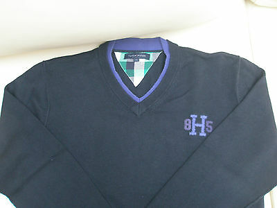 "Bellissimo pullover maglia ""TOMMY HILFIGER"" -  TG 12  -  COLORE: BLU NAVY/VIOLA"