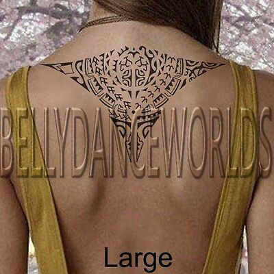 Tribal Maori Hawaiian Stingray Manta Ray Temporary Tattoo Waterproof Sticker New