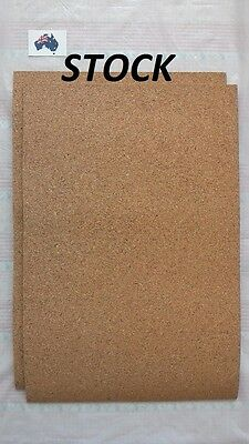 2 pcs Cork Sheet 200 x 300 x 3 mm for model train underlay, diorama, craft,board