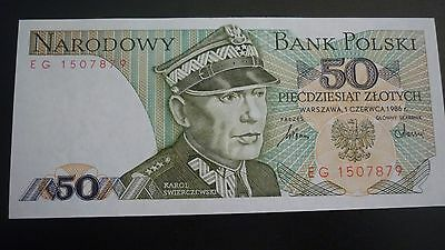 Poland  50  Zlotych  Banknote -  1986   -  Crisp Uncirculated