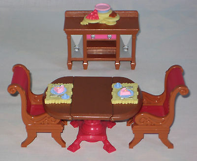 Fisher Price Loving Family Doll House Dining Room 2008 Excellent Condition