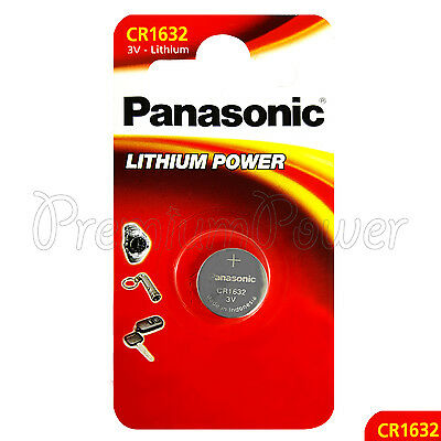 1 x Panasonic CR1632 battery Lithium Power 3V Coin Cell BR1632 DL1632 Pack of 1