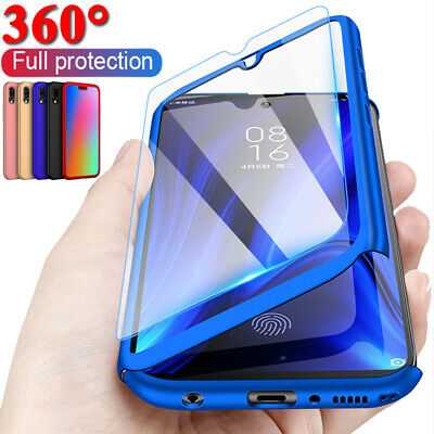 For Huawei Mate 20 Pro 10 P20 Lite P10 P9 360° Full Case Cover + Tempered Glass