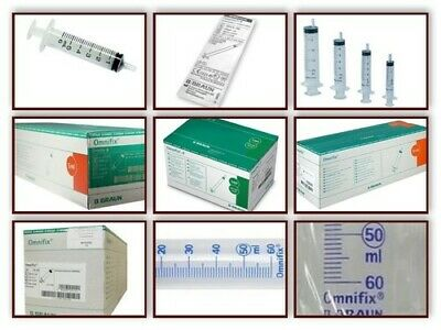 1 2 5 10 20 30 or 50 ml SYRINGES Bbraun Omnifix Leur Slip QUALITY 3 PART CE MARK