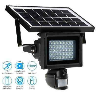 Solar Power Infrared Light Outdoor Security DVR Camera With Night Vision TF Card