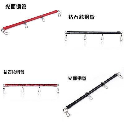PU Leather Metal Bondage accessory Spreader Bar For Hand Cuff Ankle Cuffs